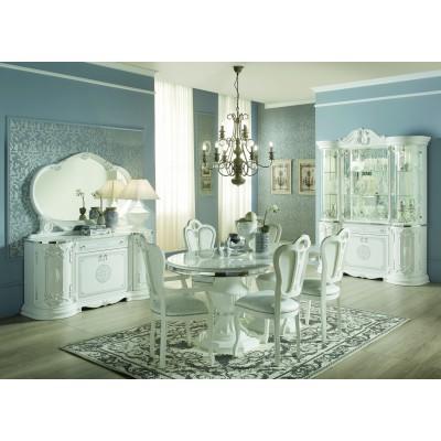 Комплект мебели для гостиной «Грета белое серебро»