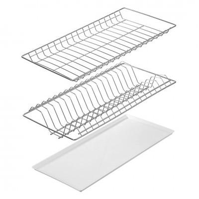 Сушка 2яр для посуды в шкаф 50 см с поддоном