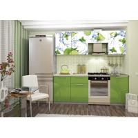 Кухня София 2,1 м с фотопечатью (орхидея, лайм, вишня)