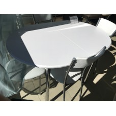 Стол T2025 80*120(160) белый 11G1