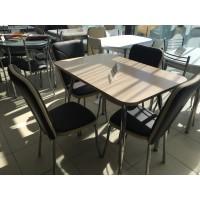 Стол T2010 70*100(140) беленый дуб
