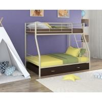 Двухъярусная кровать Гранада - 2Я (черный, серый, бежевый, коричневый)