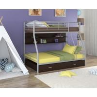 Двухъярусная кровать Гранада - 2ПЯ (черный, серый, бежевый, коричневый)