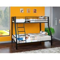 Двухъярусная кровать Гранада - 1 (черный, серый, бежевый, коричневый)