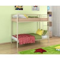 Двухъярусная кровать Севилья - 3 (черный, серый, бежевый, коричневый)