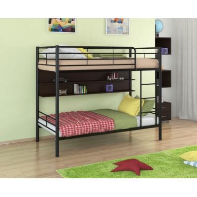 Двухъярусная кровать Севилья - 3П (черный, серый, бежевый, коричневый)