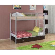 Двухъярусная кровать Севилья - 3Я (черный, серый, бежевый, коричневый)
