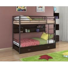 Двухъярусная кровать Севилья - 3ПЯ (черный, серый, бежевый, коричневый)