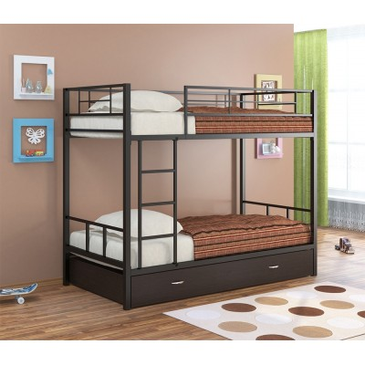 Двухъярусная кровать Севилья - 2 Я (черный, серый, бежевый, коричневый)