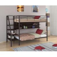 Двухъярусная кровать Толедо П (черный, серый, бежевый, коричневый)