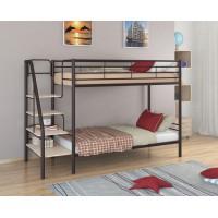 Двухъярусная кровать Толедо (черный, серый, бежевый, коричневый)