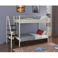Двухъярусная кровать Толедо Я (черный, серый, бежевый, коричневый)