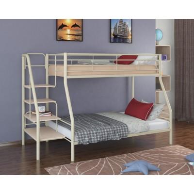 Двухъярусная кровать Толедо-1 (черный, серый, бежевый, коричневый)