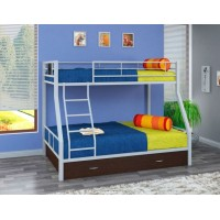 Двухъярусная кровать Гранада - 1 Я (черный, серый, бежевый, коричневый)