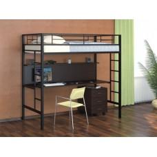 Кровать-чердак Севилья - 1 (черный, серый, бежевый, коричневый)