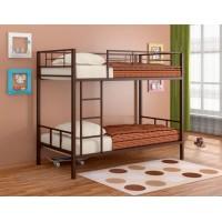 Двухъярусная кровать Севилья - 2 (черный, серый, бежевый, коричневый)