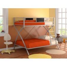 Двухъярусная кровать Виньола (черный, серый, бежевый, коричневый)