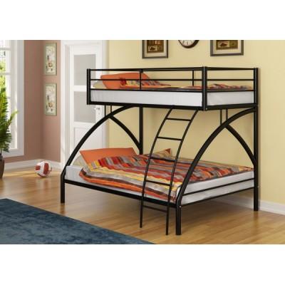 Двухъярусная кровать Виньола - 2 (черный, серый, бежевый, коричневый)