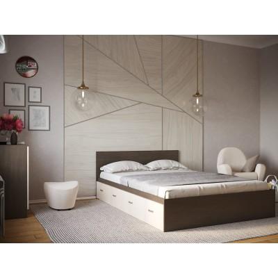 Кровать РОНДА век КР4Я-160 Кровать с 4 ящиками 1600х2000