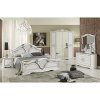 Комплект мебели для спальни Грета белое серебро