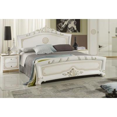 """Кровать с тканью """"Европа белое золото"""""""