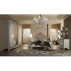 Комплект мебели для спальни Стефани золото/серебро